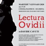 Sulmona: Lectura Ovidii al Cinema Pacifico il 7 gennaio