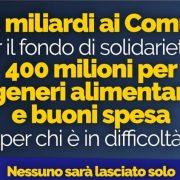I soldi stanziati dal Governo ai comuni: 9 milioni all'Abruzzo, 150 mila a Sulmona. Ecco le ripartizioni