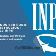 Bonus 600 euro: procedura online dal 30 marzo