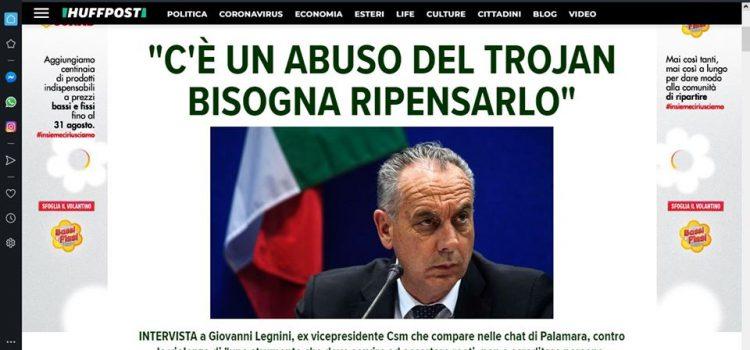 """Legnini: """"c'è un abuso del trojan, bisogna ripensarlo"""""""