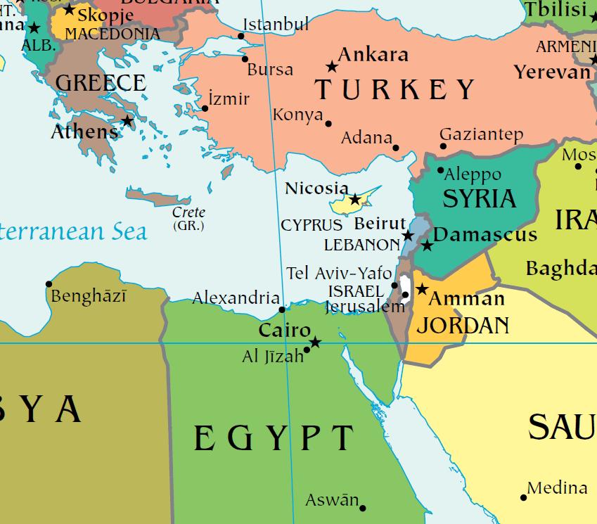 Cartina Politica Del Libano.Tensioni Crescenti Fra Grecia E Turchia Il Quadro Storico E Geo Politico Ovidio Network