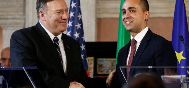 """Cina, Venezuela, Iran: missione di Pompeo a Roma per riportare a cuccia il """"fedele alleato"""" italiano"""