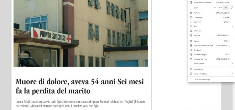 Appena vaccinata, muore infermiera a Castel di Sangro